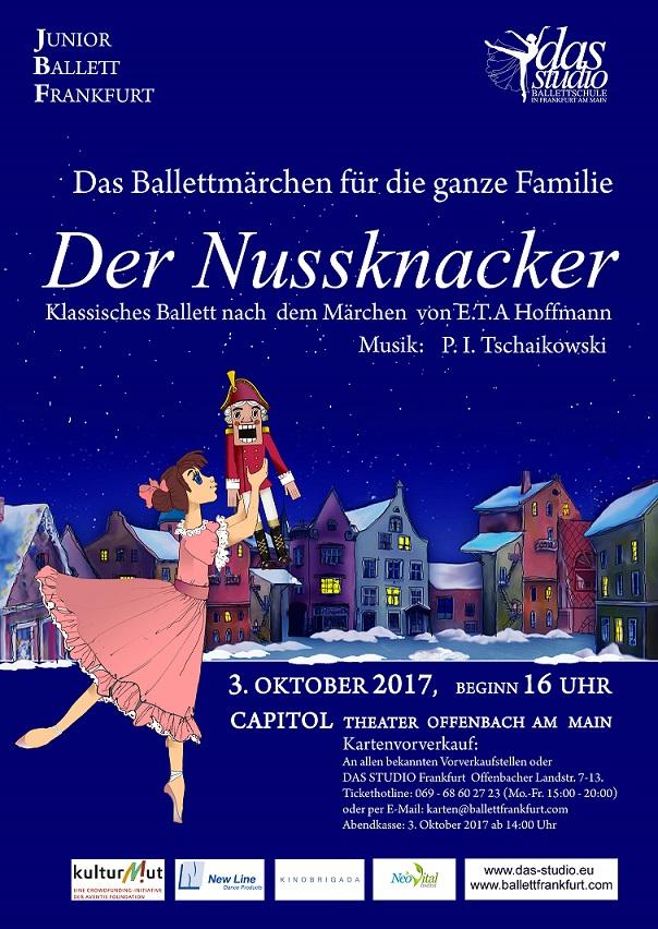 """Poster 2017 11 klein - Klassisches Ballett """"Der Nussknacker"""""""