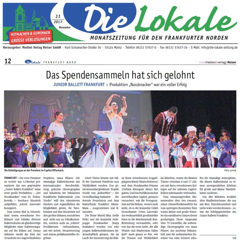 "Die Lokale Zeitung 11 Nussknacker 768x782 - Klassisches Ballett ""Der Nussknacker"""
