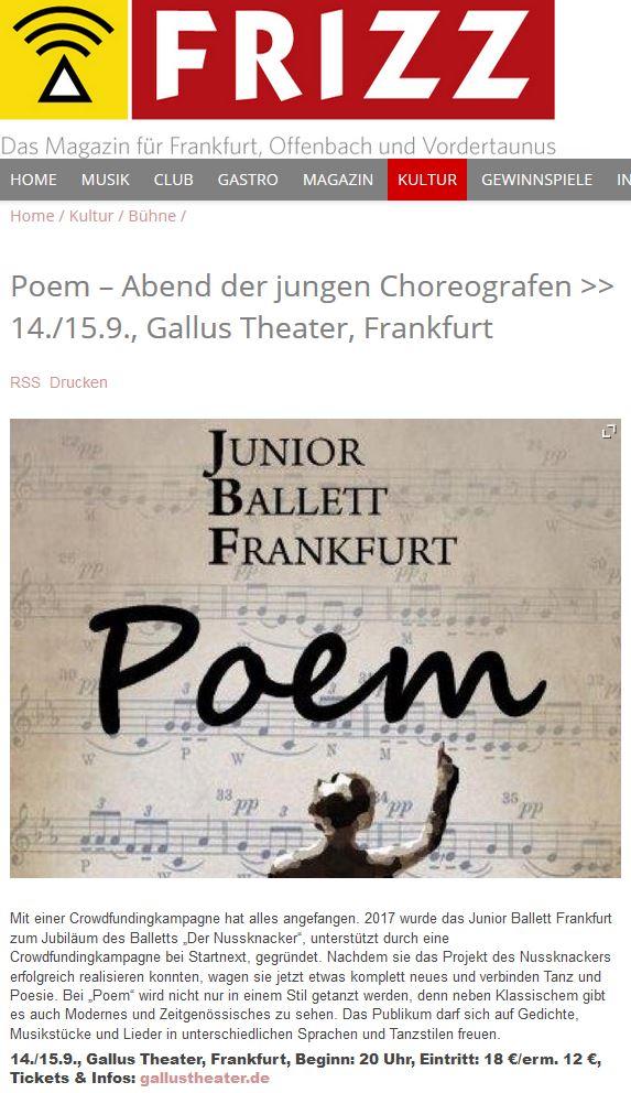 Fritz Magazine Poem - Poem – Poesie trifft Bewegung –